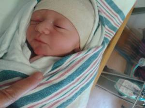 My son as a new born
