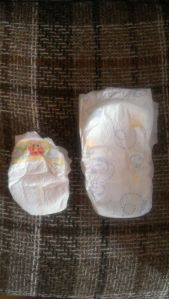 The size difference between a newborn diaper and a size 4