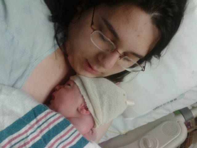 The first time I held my son